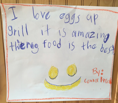 Eggs Up Grill Kids Banner