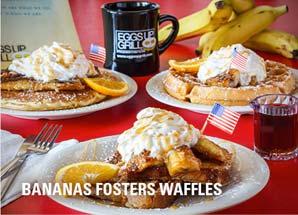 bananas fosters waffles